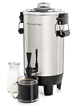 HomeCraft CU30SS Quick-Brewing 1000-Watt Automatic Coffee Urn 30-Cup Stainless Steel