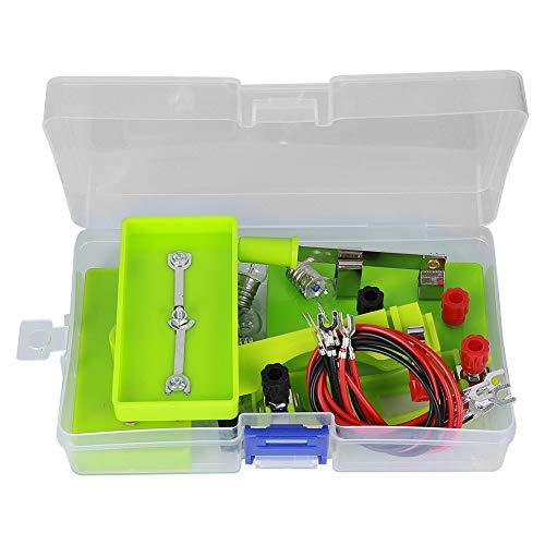GOTOTOP Kit de Motor de Circuito eléctrico, Proyecto de Ciencia de Bricolaje Stem Kits educativos de Aprendizaje Montessori para niños(Verde)