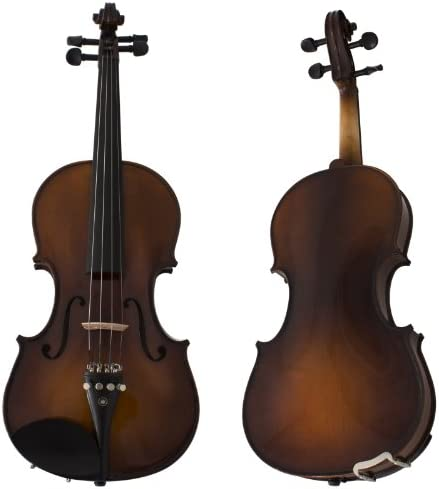 Cecilio CVN EAV Ebony Fitted Solidwood Violin in Varnish Antique with Deluxe Oblong Hard Case product image