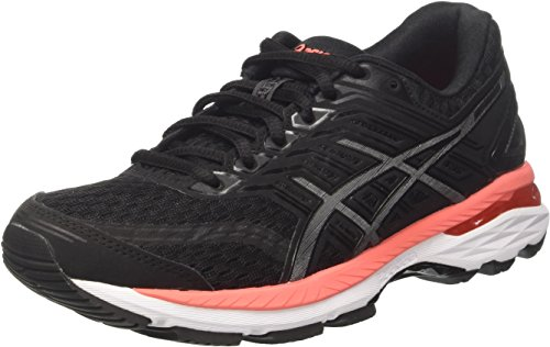 Asics Gt-2000 5, Zapatillas de Running para Mujer, (Black/Carbon/Flash Coral),...