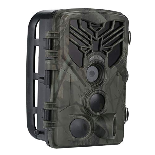 Cámara de seguimiento, visión nocturna impermeable 20MP 1080P Cámara de exploración de caza para monitoreo de vida silvestre, función de conexión WIFI y Bluetooth, LCD TFT de 2 pulgadas