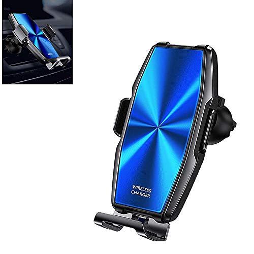 CUICUIMM Cargador de coche inalámbrico, 15W soporte para teléfono de coche, rotación de 360 ° ajustable soporte para teléfono de coche, para iPhone 11pro/11/XS Max/XS/Xr/X/8S/8, Galaxy S20/S10/S9/S8