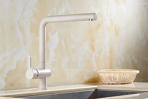 Water Tower - Grifo mezclador monomando de latón macizo sin plomo y válvula de cerámica para cascada, grifo de cocina, grifo giratorio para fregadero, fregadero de agua fría y caliente