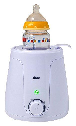 Alecto BW-70 Baby flessenwarmer voor het verwarmen en ontdooien met traploos instelbare temperatuur en LED-indicator