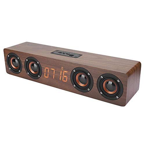 Altavoz Bluetooth - Altavoz Bluetooth W8C De Madera Maciza Pantalla Led Reloj Funciones FM