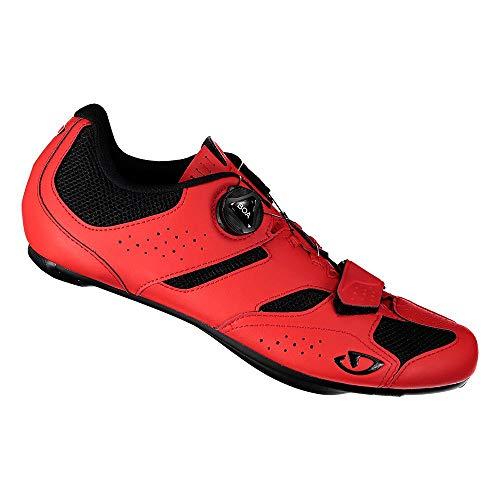 Giro Savix II - Zapatillas para Hombre, Color Negro y Rojo, Talla 44