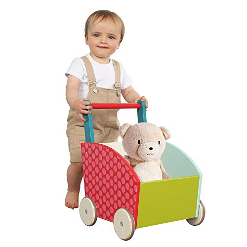labebe - Baby Walker for Girl&Goy, 4 Wheels Walker Toy, Push/Pull Wagon...