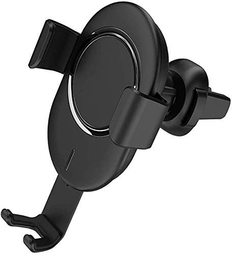 MRTYU-UY Soporte inalámbrico para cargador de coche, 10 W, carga rápida para parabrisas o salpicadero, ventilación de aire para iPhone XS XR X 8, Samsung S10 S9 S8, A