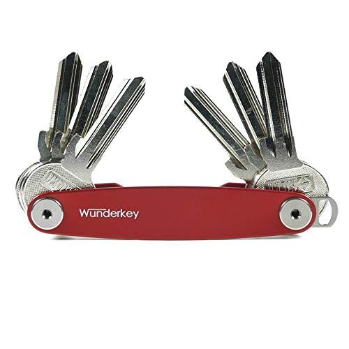 WUNDERKEY – der Key Organizer Made in Germany [ Schlüssel-Organizer | Schlüssel-Etui | Schlüssel-Mäppchen | Smart Key Gadget | Das Original bekannt aus GQ & Playboy ], Rot, Bis 12 Schlüssel