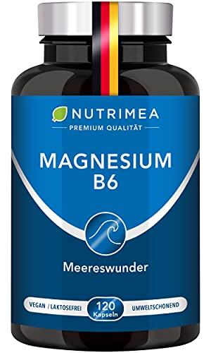 MAGNESIUM MARE + Vitamin B6   Natürliche Magnesiumquelle aus dem Meer   Qualitätsprodukt aus Frankreich   ELEMENTARES reines Magnesium aus Magnesiumoxid   Pulver Kapseln Hochdosiert 100{e0f481e66e49e59c6770d52109ed1acccfb9a69526ad6b78ccffe1adaa532416} VEGAN