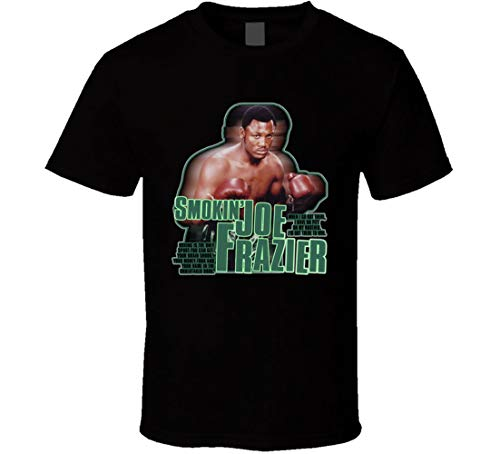 Smokin Joe Frazier rip Boxing Champ Retro t Shirt Black