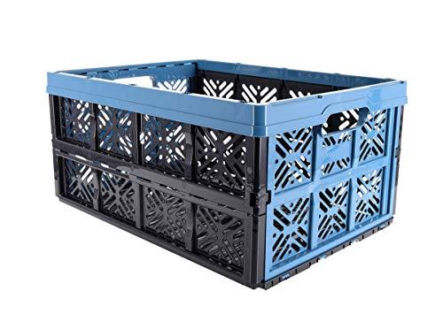 keeeper Boîte Pliante Robuste Ida, Plastique Résistante (PP), Bleu, 48 x 35 x 23 cm, 32 L