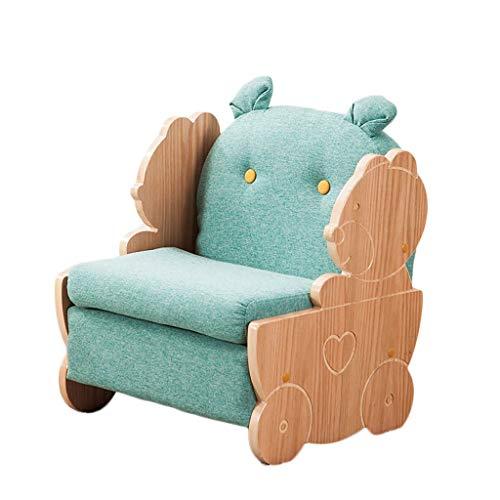 LIUYONGJUN Sillones Infantiles,Interiores Dibujos Animados Niños Y Niñas Extraíble Sofas Infantiles Verde