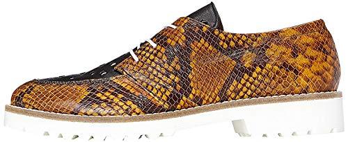find. Schuhe Damen mit Schlangenleder-Optik und Lochverzierungen, Braun (Snake), 40 EU
