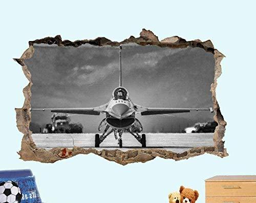 UYEDSR Pegatinas de Pared Avión de Guerra 3D Etiqueta de la Pared Arte Decoración de la habitación Calcomanía Mural 50x70cm