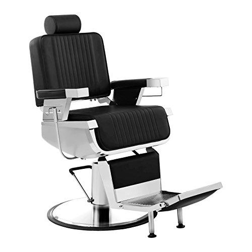 Physa - LUXURIA BLACK - Sillón de peluquería negro - Altura del asiento regulable entre 64 y 77 cm