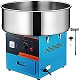 VEVOR Máquina de Algodón de Azúcar 220V Azul Algodonera de Azúcar Cotton Candy Machine Máquina Profesional para Hacer Nubes de Azúcar