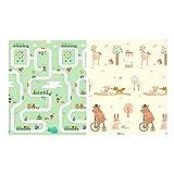 belupai Alfombra de juego suave para bebés y niños, espuma de gimnasio, tamaño grande, tapete de juego para piso, alfombra de gateo, 6 unidades (Ciudad de los Sueños de 1,5 cm)