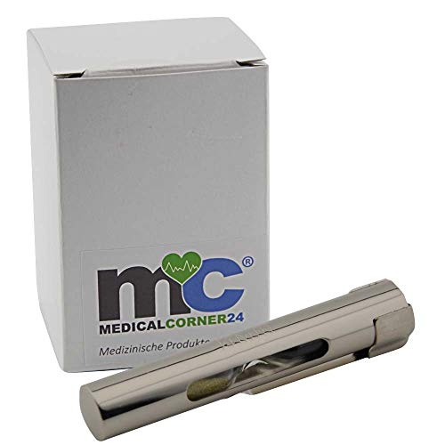 MC24® Sanduhr Schwesternuhr Pulsuhr Kitteluhr Uhr Krankenschwester, mit Clip, 1/4 Min, 15 Sek