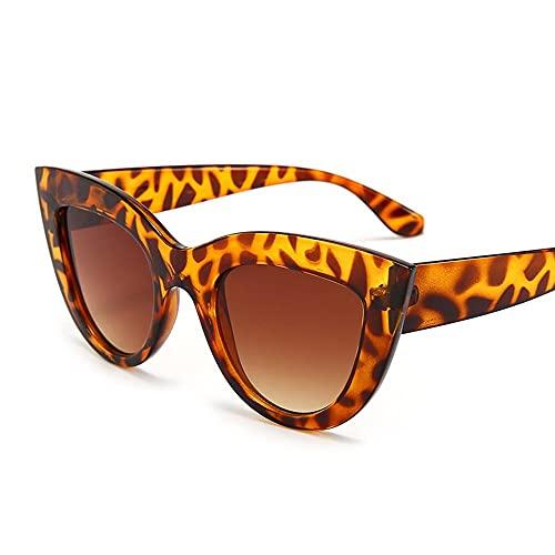 QWKLNRA Gafas De Sol para Hombre Montura De Leopardo Lente Marrón Gafas De Sol Deportivas Polarizadas contra-UV Gafas De Sol Vintage Mujer Ojo De Gato Gafas De Sol Retro Gafas De Sol De Espejo Rosa