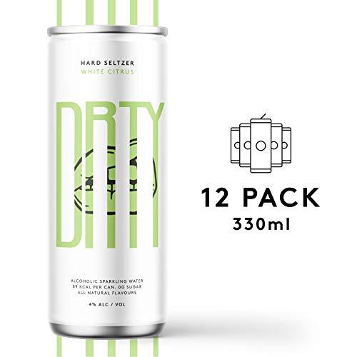 DRTY Hard Seltzer White Citrus, 4{6e49442f345239f6e02794d785c57e6bfda45c9c177bfad1968e6a0a769a97a1} Vol. und null Kohlenhydrate pro Dose, (12 x 330ml). Alcoholic Sparkling Water