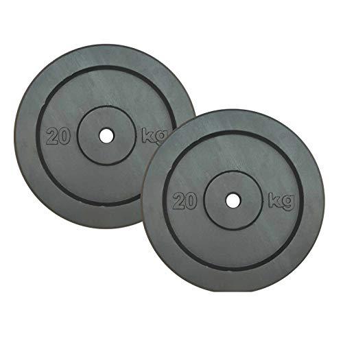 Gana Sport Dischi in Ghisa per Sollevamento Pesi da kg.20 Foro mm.25-2 Piastre da 20 kg