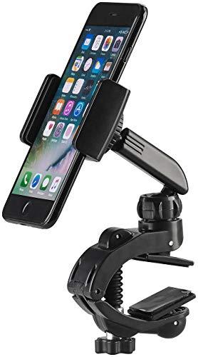 Callstel Handyhalterung: Kfz- Smartphone-Halterung mit Schraubklemme und Kugelgelenk (Handy Halterung Klemme)