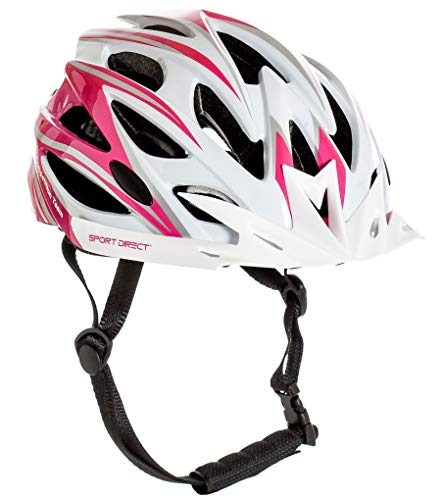 Sport Direct 'Team Comp 24 Vent Casco de bicicleta para mujer, color rosa, 55-58 cm, CE EN1078:2012 A1:2012