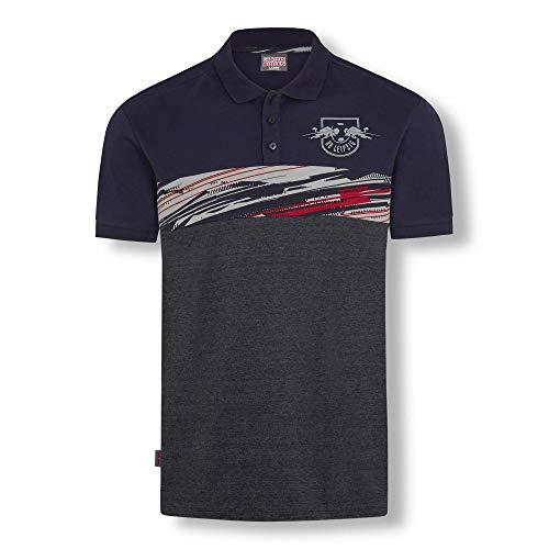RB Leipzig Blizzard Jersey Polo Hemd, Blau Herren Medium T Shirt, RasenBallsport Leipzig Sponsored by Red Bull, Original Bekleidung & Merchandise