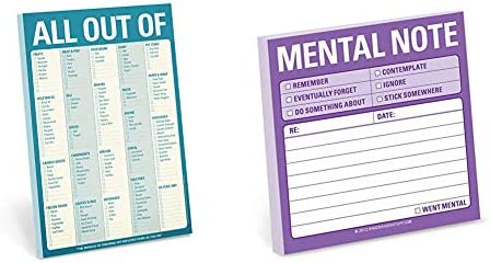 Knock Knock All Out Of Pad Grocery List Note Pad 6 x 9 inches Blue 1 Count Knock Knock Mental product image