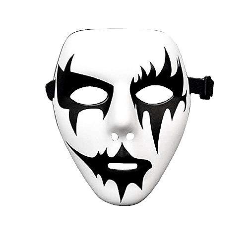 Jabbawockeez-masker - straatdans - spook - kus - carnaval - halloween - pierrot - wit - kostuum - accessoires - man - vrouw - kerstverjaardagsgeschenkidee - model 4 joker