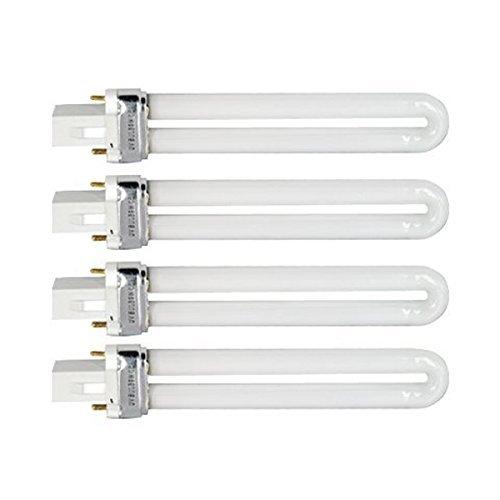Tinksky Lot de 4 ampoules tubulaires en forme de U 9 W 365 nm pour lampes sèche-ongles à ultraviolets