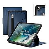 ZUGU iPad 10.2 Hülle 2021 / 2020 / 2019, schlanke Schutzhülle für die iPad9 / iPad8 / iPad7, 8 Winkel-Ständer magnetisch, Stifthalter, Auto Sleep /Wake UP [Navy Blau]