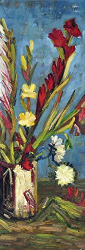 1art1 Vincent Van Gogh - Vase Mit Gladiolen, 1886 Poster Kunstdruck 91 x 30 cm
