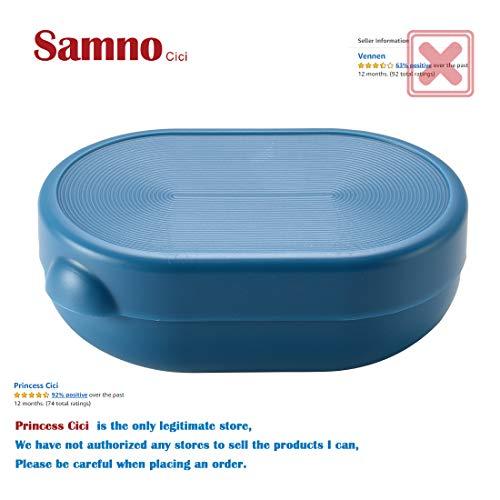Samno cici Una caja de jabón, una caja de jabón al aire libre, una caja de jabón de viaje.Blue