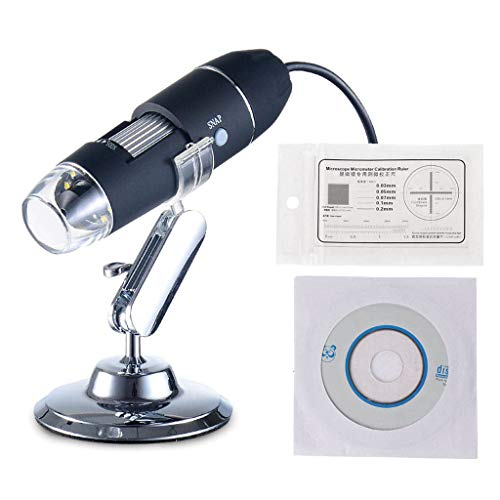 DAIMANPU Microscopio electrónico 500X 8 LED Digital USB Microscopio Lupa Electrónica Estéreo USB Endoscopio Cámara con Soporte