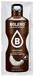 Bolero Bebida Instantánea sin Azúcar, Sabor Coco - Paquete de 12 x 9 gr - Total: 108 gr