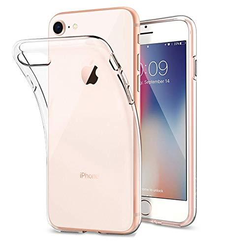 Amonke Hülle für iPhone 7 8, Silikon Transparent Schutzhülle Dünn Schlank Weich Flexibel Anti-Kratzer Abdeckung Crystal Clear TPU Hülle Cover Durchsichtig Handyhülle für Apple iPhone 7 8