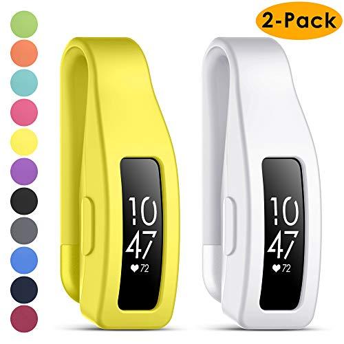 KIMILAR Cliphalter Kompatibel mit Fitbit Inspire & Inspire HR Clip,[2 Pack] Silikon Ersatz Verschluss Gurt Gehäuseabdeckung Zubehör Schutz Hülle Case für Inspire/Inspire HR (Nicht für Inspire 2)