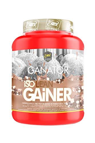 MTX nutrition IsoLeanGAINER Ganator [1,5 Kg.] Chocolate Suplemento PREMIUM proteínas de suero con carbohidratos avanzados, Ganancia de Peso Muscular