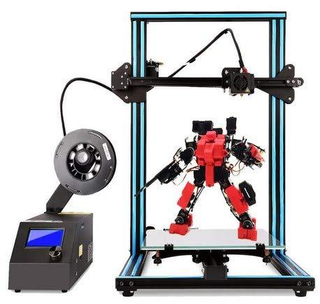 Impresora 3D CTC A10S DIY Desktop de alta precisión e impresión rápida de modelos 3D (200 mm/s) con filamento ABS/PLA de 1.75 mm, tamaño de impresión: 300X300X 400 mm