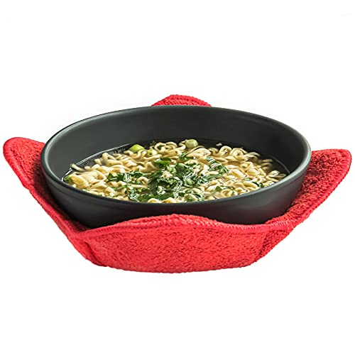 Microwave Bowl Holders for Hot Food Set of 4 Bowl Huggers for Hot Food Bowl Cozy for Soup Bowl Hot...
