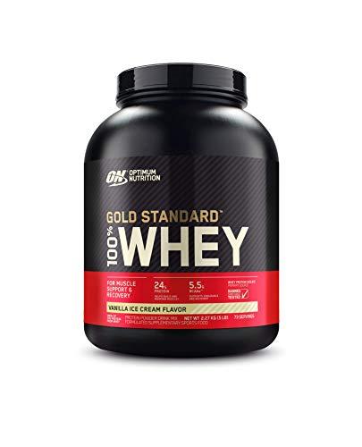 100% Whey Protein Gold Standard (2,270Kg) - Sabor Vanilla Ice Cream, Optimum Nutrition