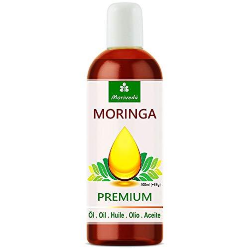 Olio di Moringa Premium di MoriVeda, spremuto a freddo da semi di alta qualità. 100% qualità Oleifera. Cura della pelle, Cura dei capelli, Cura delle ferite,...