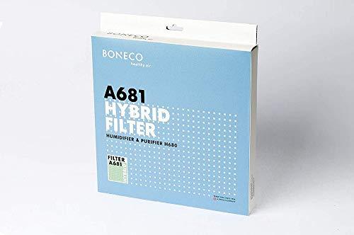 BONECO Filtro híbrido A681 - Filtro con recubrimiento especial para el humidificador y purificador de aire H680 - Elimina prácticamente todos los virus