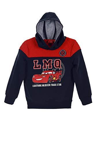 Preisvergleich Produktbild Disney Cars Lightning McQueen (1263) Kinder Kapuzenpullover Pullover Sweatshirt Hoody,  Blau,  Größe: 98