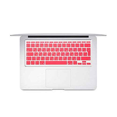 For Mac Book Air 11 inch Russian Colorful keyboard film EU Silicone Keyboard Protector Cover For air11.6 A1465 A1370 RU-Pink-