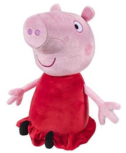 Peppa Pig PEP0726 Wutz Peppa Deluxe Kuscheltier, Weiche Plüschfigur ca. 55 cm groß, Plüsch Figur zum Schlafen, Stofftier zum Spielen, Original Plüschtier für Kinder ab 24 Monate