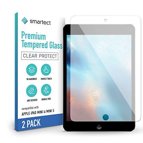 smartect Schutzglas kompatibel mit Apple iPad mini 4 / mini 5 [2 Stück] - Tempered Glass mit 9H Festigkeit - Blasenfreie Schutzfolie - Anti-Kratzer Bildschirmschutzfolie