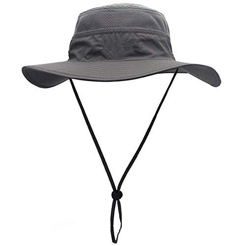 BJ-SHOP Fischerhüte,Sonnenhut Herren Damen mit der Netzstoff und Schweißband Wanderhut wasserdicht schnelltrocknend und UV-Schutz
